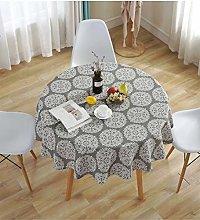 meioro Round Tablecloths Grey Retro Tablecloth