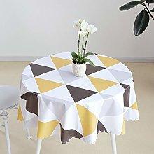 meioro Round Waterproof Tablecloths Wipe Clean PVC
