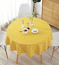 meioro Table Cloth, Round Tablecloth, Cotton Linen