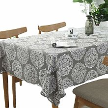 meioro Tablecloths Grey Retro Tablecloth