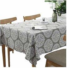 meioro Tablecloths Grey Retro Tablecloth