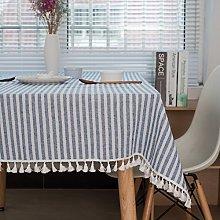 meioro Tablecloths Striped Tassel Table Cloth