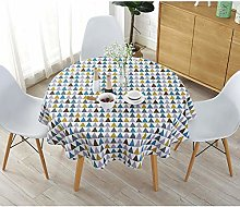 Meiosuns Round Tablecloths Cotton Linen Tablecloth