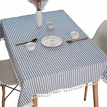 Meiosuns Tablecloth Striped Fringe Table cloth
