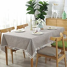 Meiosuns Tablecloths Striped Tassel Table Cloth