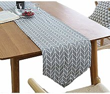 Meiwash Linen Table Runners Simple Style Twill