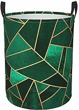 Meiya-Design Collapsible Round Storage Bin,Emerald