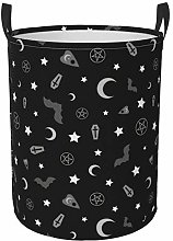 Meiya-Design Collapsible Round Storage Bin,Goth