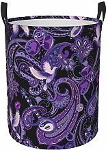 Meiya-Design Collapsible Round Storage Bin,Paisley