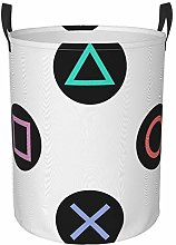 Meiya-Design Collapsible Round Storage Bin,Play