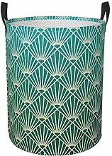 Meiya-Design Collapsible Round Storage Bin,Teal