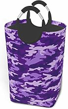 Meiya-Design Laundry Hamper Storage Bin Purple