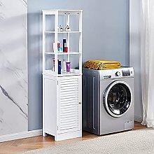 MeJa Bathroom Tall Cabinet Free Standing, Floor