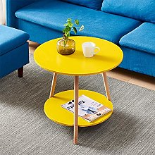 MeJa Small Sofa Side Table Yellow Coffee Table For