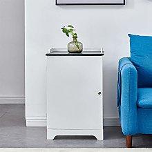 MeJa White Bathroom Slim Cabinet, Free Standing