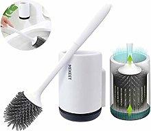 MEKEET Silicone Toilet Brush and Holder,Bathroom