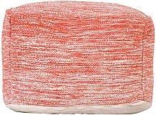 Mekhi Pouffe Isabelline Upholstery Colour: Rust
