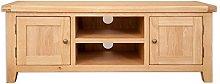 Melbourne Natural Oak Widescreen Large TV Cabinet
