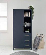 Melfi Compact Storage Nursery Wardrobe - Midnight