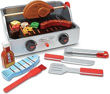 Melissa & Doug Deluxe Wooden Barbecue Play Set