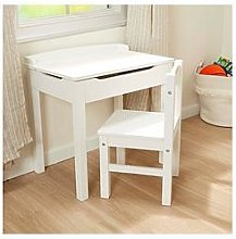 Melissa & Doug Wooden Lift Top Desk & Chair White