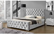 Melksham Crushed Velvet Upholstered Bed Frame