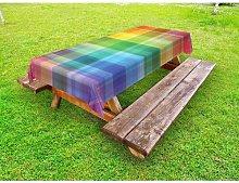 Melnick Vintage Rainbow Tablecloth Ebern Designs