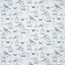 Melodie Curtain Fabric Duck Egg