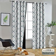 Melodieux Moroccan 100% Blackout Curtains for