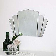 Melody Maison Art Deco Fan Frameless Wall Mirror