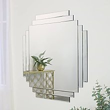 Melody Maison Art Deco Frameless Wall Mirror 85cm