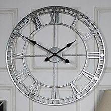 Melody Maison Extra Large Silver Skeleton Wall