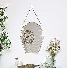 Melody Maison Gold Art Deco Wall Mirror