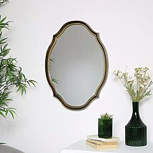 Melody Maison Gold Oval Shaped Wall Mirror 45cm x