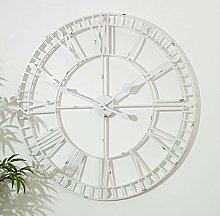 Melody Maison Large White Skeleton Wall Clock