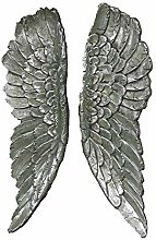 Melody Maison Pair of Large Antique Silver Angel