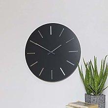 Melody Maison Round Grey & Silver Wall Clock