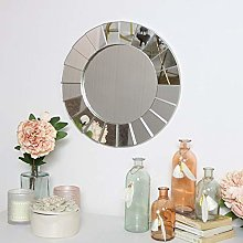 Melody Maison Silver Deco Wall Mirror