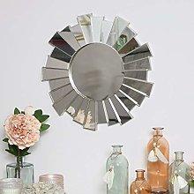 Melody Maison Silver Sunburst Wall Mirror