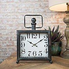 Melody Maison Vintage Distressed Mantel Clock