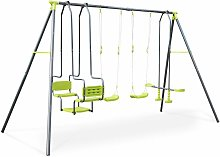 Meltemi 4-piece swing set, 6-seat set with 2