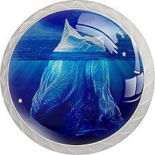Melting Iceberg 4Pcs Cabinet Knobs Round Shape