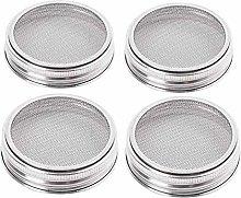 mementoy 4pack Stainless Steel Sprouting Jar Lids