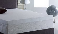 Memory Foam Mattress Topper with Cover, 3 inch -