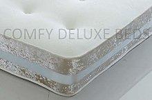 Memory Foam Ortho Sprung Mattress Crushed Velvet