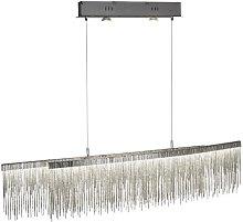 Memphis LED Ceiling Bar In Satin Silver