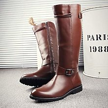 Men Vintage Knight Riding Boots Pointed Toe