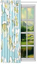 Men Window Curtains Green Water And Grass Drops