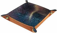 Men Women Valet Tray,Microfiber Leather Tray,Space