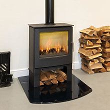 Mendip Woodland Multi Fuel Stove with Log Store